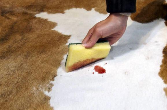 Koeienhuid onderhouden en reinigen