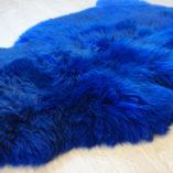 Blauwe schapenvacht