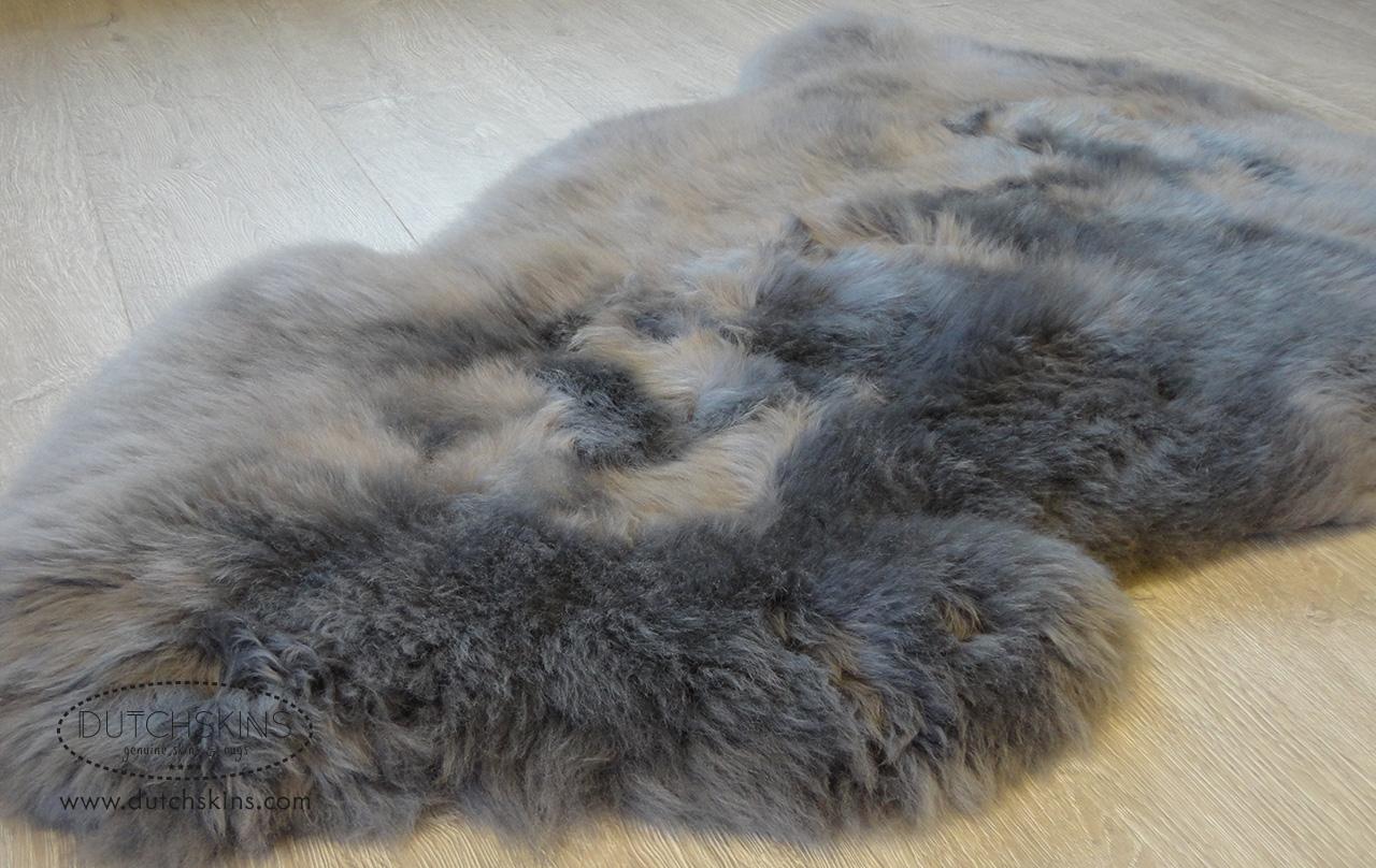Schapenvacht grijs geverfd dikke kwaliteit - Grijs gekleurd ...