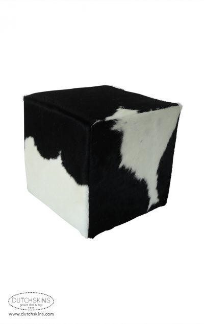 Poef koeienvel zwart wit