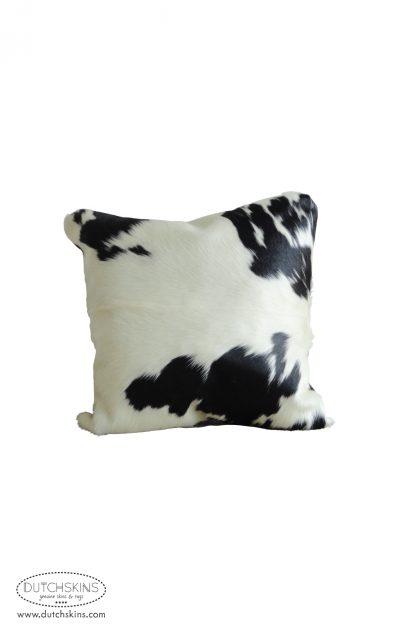 Koeienhuid kussen zwart wit 50 x 50 cm