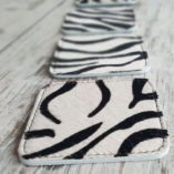 koeienvel onderzetters vierkant zebraprint