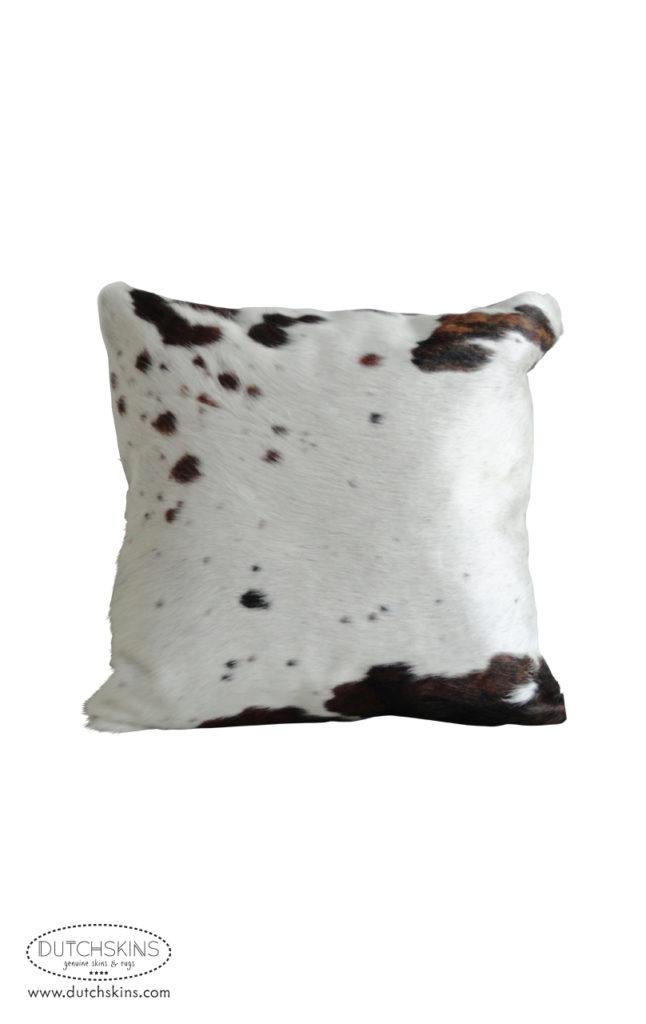 Kussen koeienvel wit rood zwart 50 x 50 cm