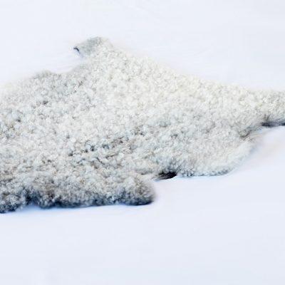 Gotland schapenvacht wit grijs