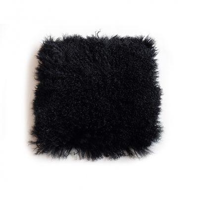 Kussenhoes Tibetaans schaap zwart
