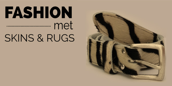 Fashion met skins en rugs