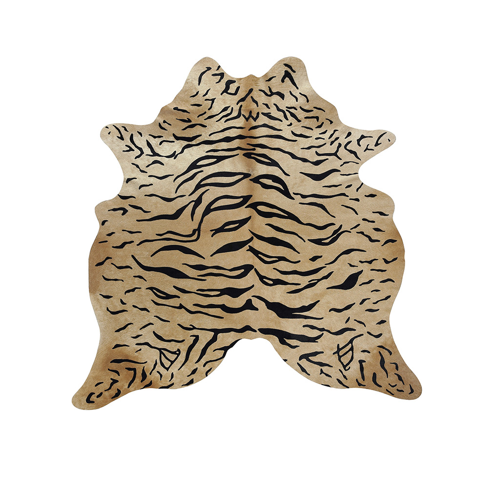 Koeienhuid beige met tijgerprint
