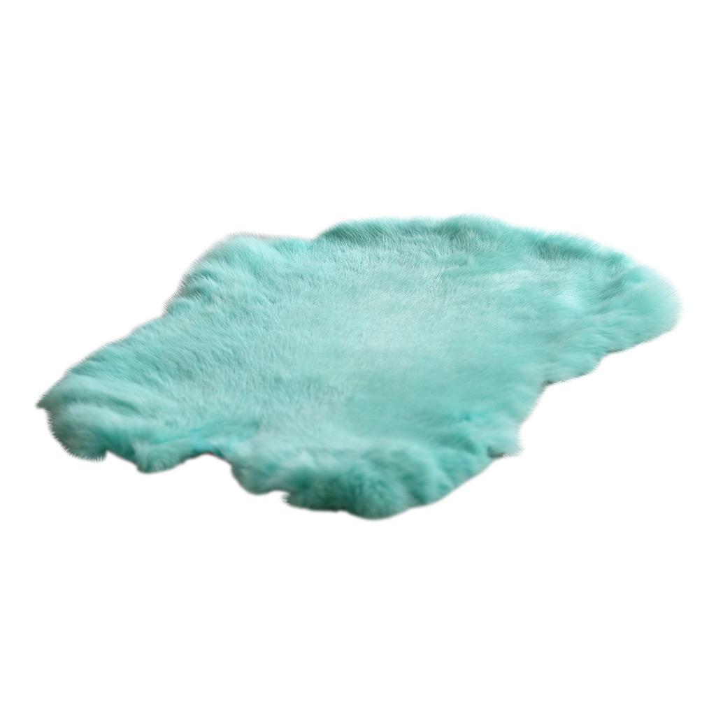 Konijnenvel turquoise