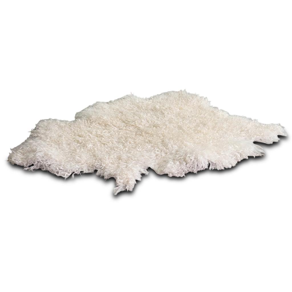 Angora geitenvel wit