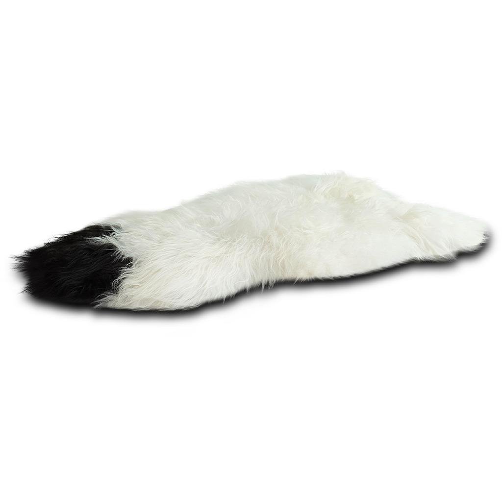 IJslandse schapenvacht wit met vlek