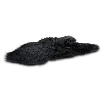 IJslandse schapenvacht zwart