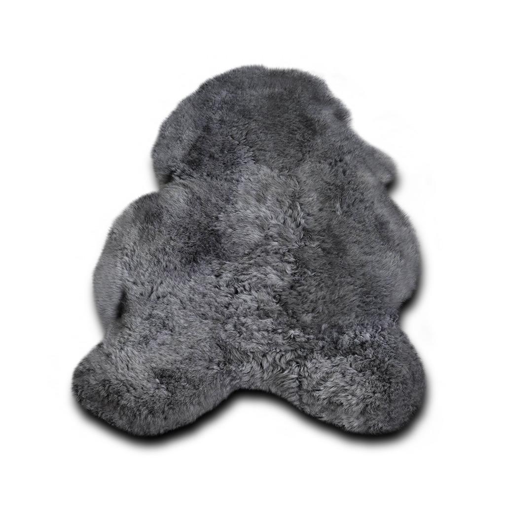 Ijslandse schapenvacht grijs kort haar kortharige grijze schapenvacht - Grijs gekleurd ...
