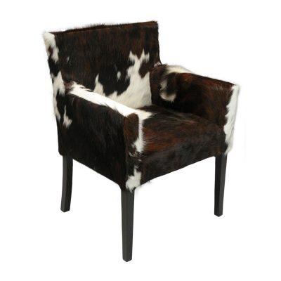 Koeienhuid eetkamer fauteuil