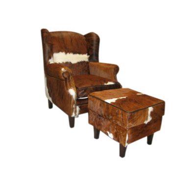 Armchair with hocker