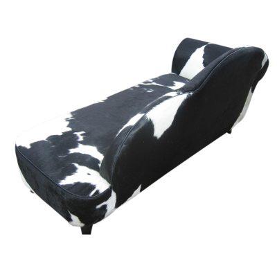 Koeienhuid sofa zwart wit