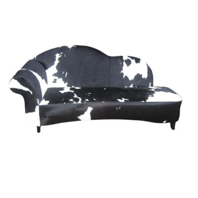 Chaise lounge bank koeienhuid