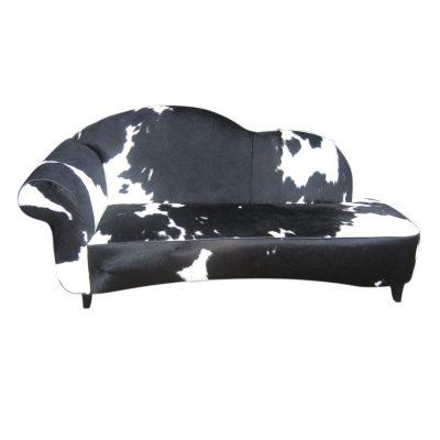 Sofa koeienhuid zwart wit