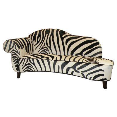 Sofa cowhide black white zebra