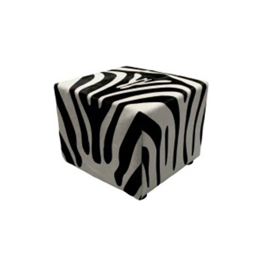 Poef zebraprint