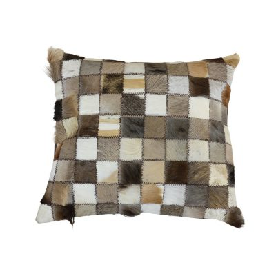 small patchwork animal hide leather
