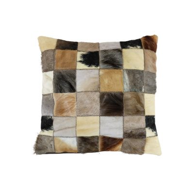 cushion cover leather animal skins