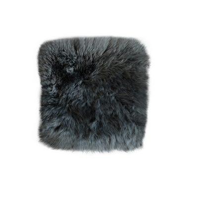 Stoelpad schapenvacht vierkant antraciet
