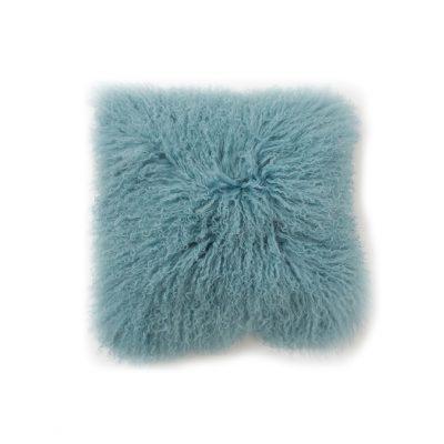Kussenhoes krul Tibetaans zacht blauw