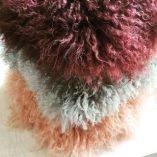 Kussenhoes krul Tibetaans zacht groen