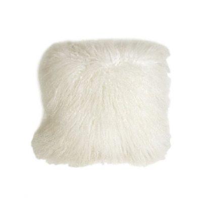 Kussenhoes krul Tibetaans natuur wit