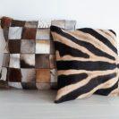 Patchwork-en-zebraprint-kussen