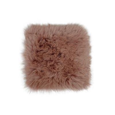 Roze schapenvachtje vierkant