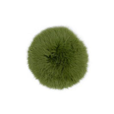 Ronde groene schapenvacht