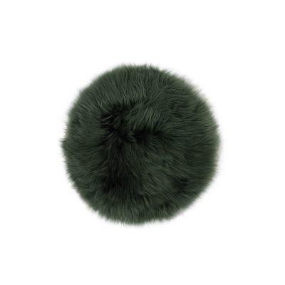 Stoelzitting donker groen schapenvacht