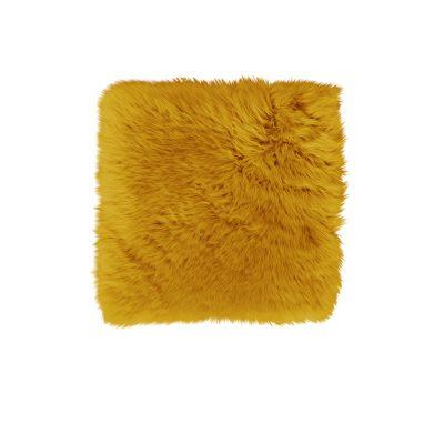 Stoelpad schapenvacht okergeel vierkant