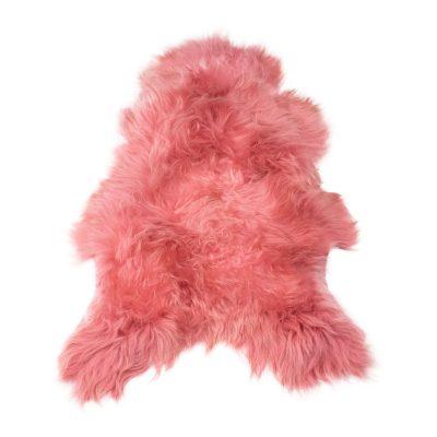 Ijslandse schapenvacht koraal roze