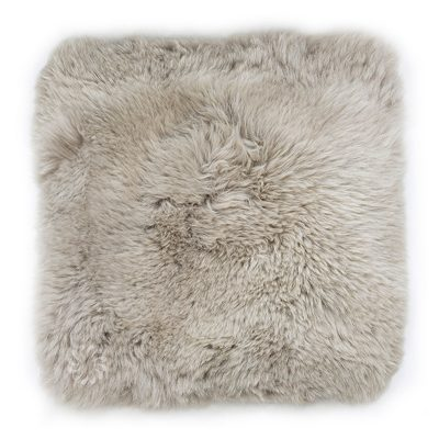 Lambskin cushion light taupe