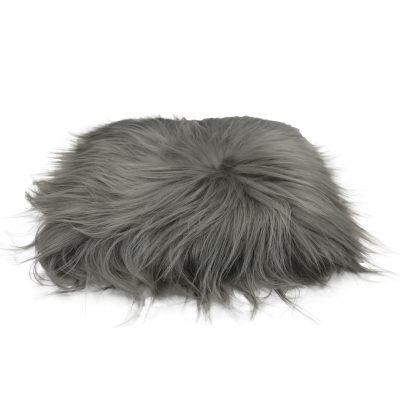 Chair cushion Icelandic sheepskin stone gray