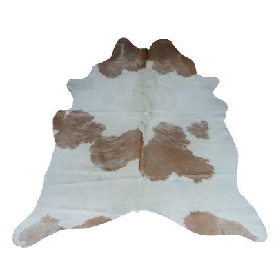 Cowhide white with beige