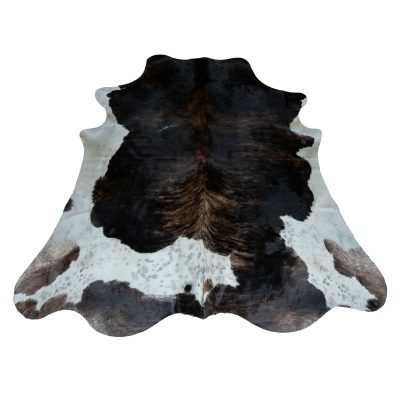 Brown black and white cowhide