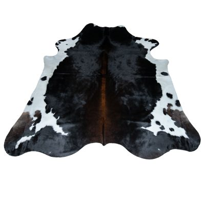 large brown cow rug