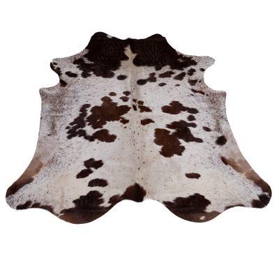 Brown white cowhide