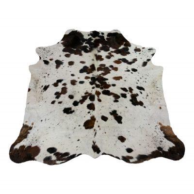 Tricolor cowhide white brown