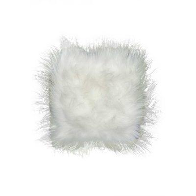 Kussen schapenvacht wit IJslands lang harig