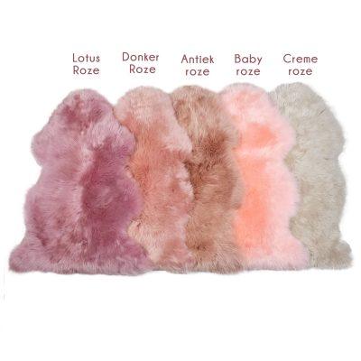 Roze tinten schapenvachten