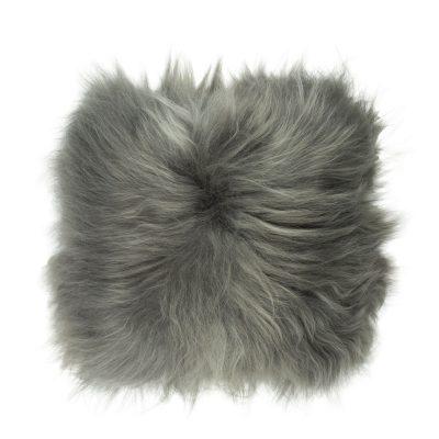 Kussen IJslandse schapenvacht grijs