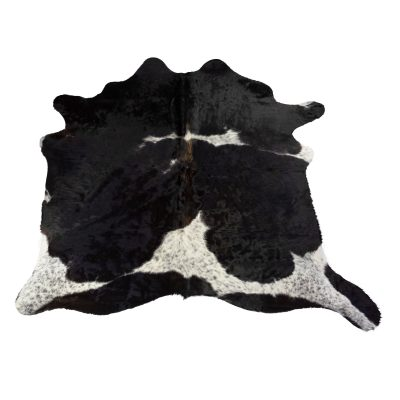 Large cowhide black and white