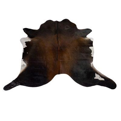 dark brown cowhide