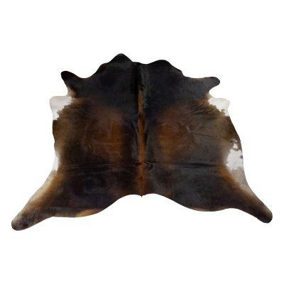 Dark brown cow's rug