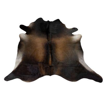 Dutchskins dark brown black cow rug