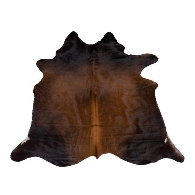 Shiny brown cowhide small